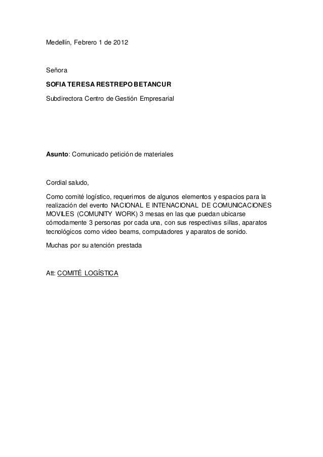 carta de pedido