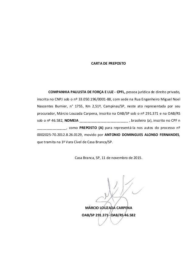 Carta De Preposto Modelo Dissertação November 2019
