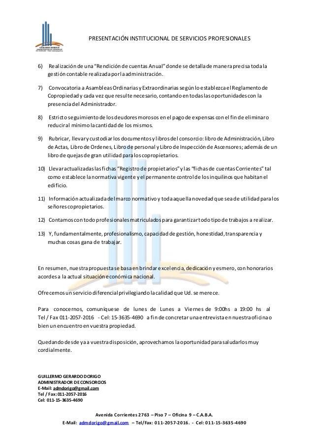 Carta de presentación consorcios