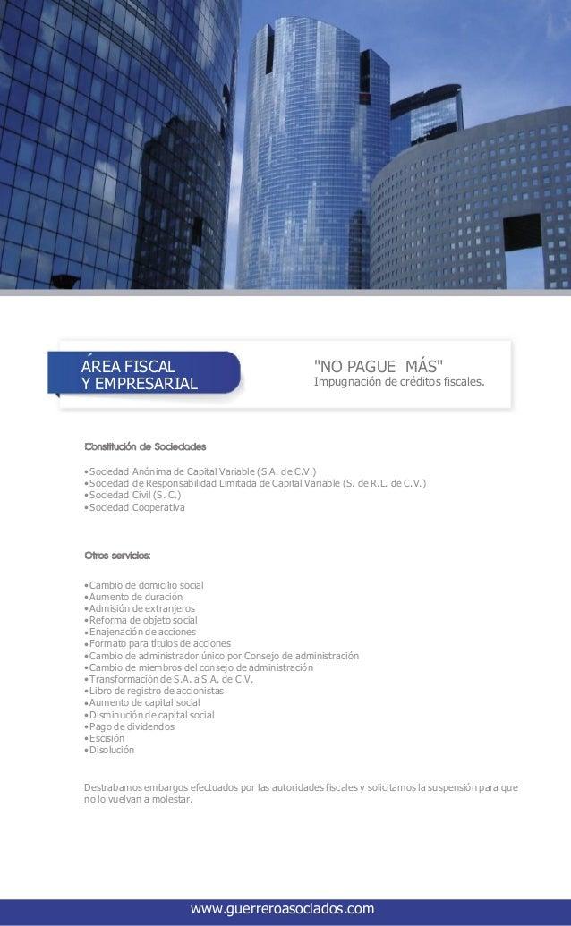Corporativo Guerrero Silva, Fragoso & Asociados S.C. Slide 3