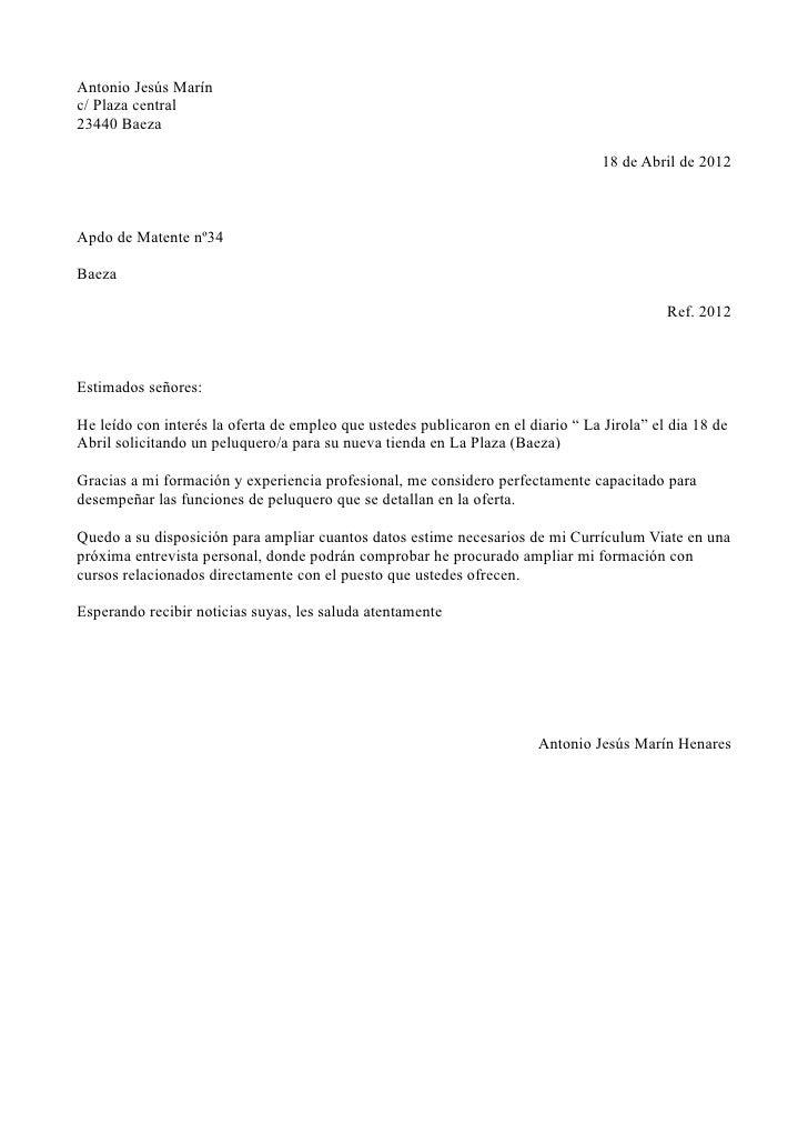 Carta Presentacion Under Fontanacountryinn Com