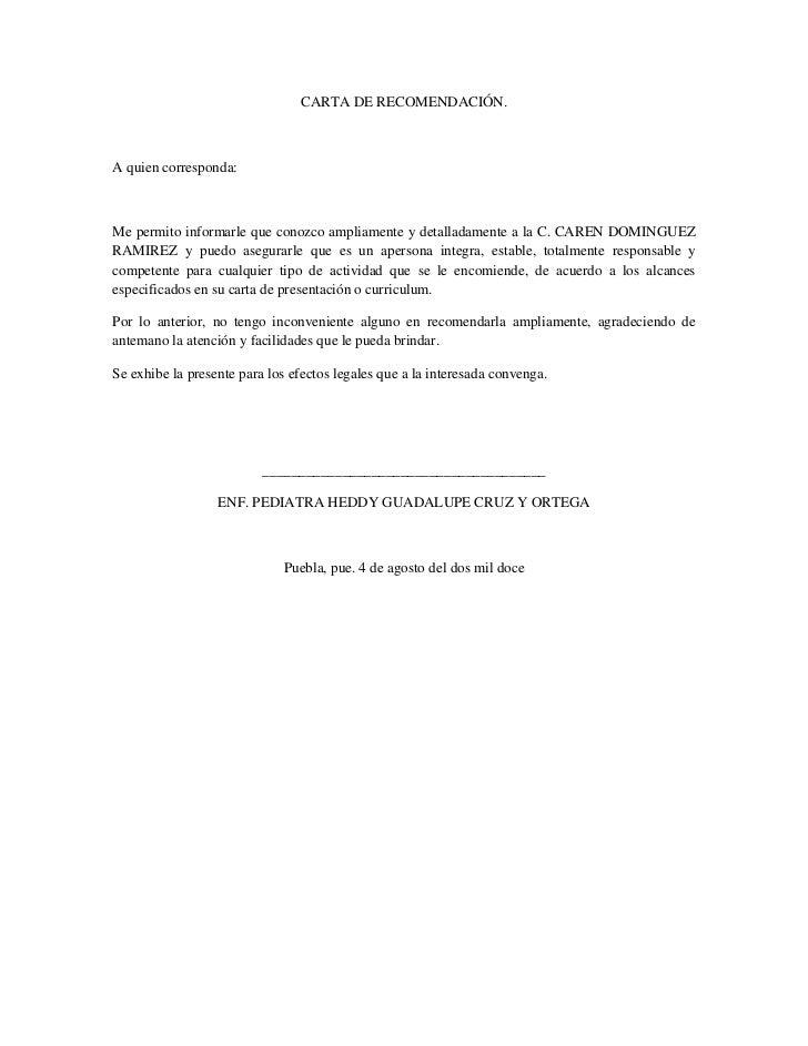 carta de recomendacion personal para un amigo - Gidiye ...