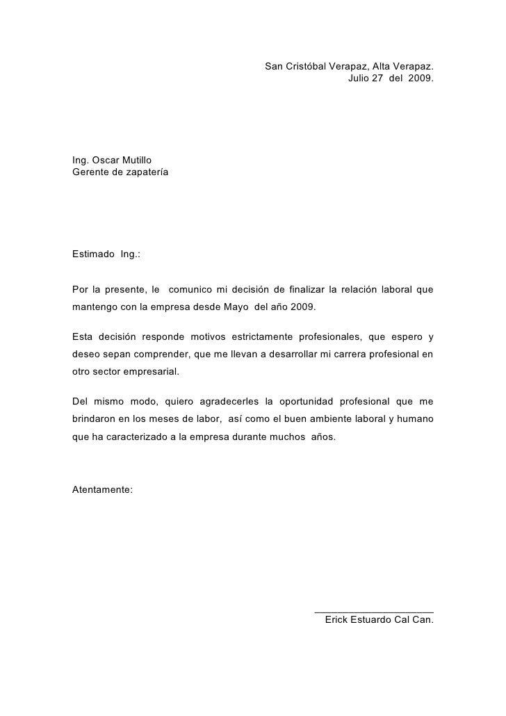 plantilla para redactar carta de renuncia calaméo modelo carta de