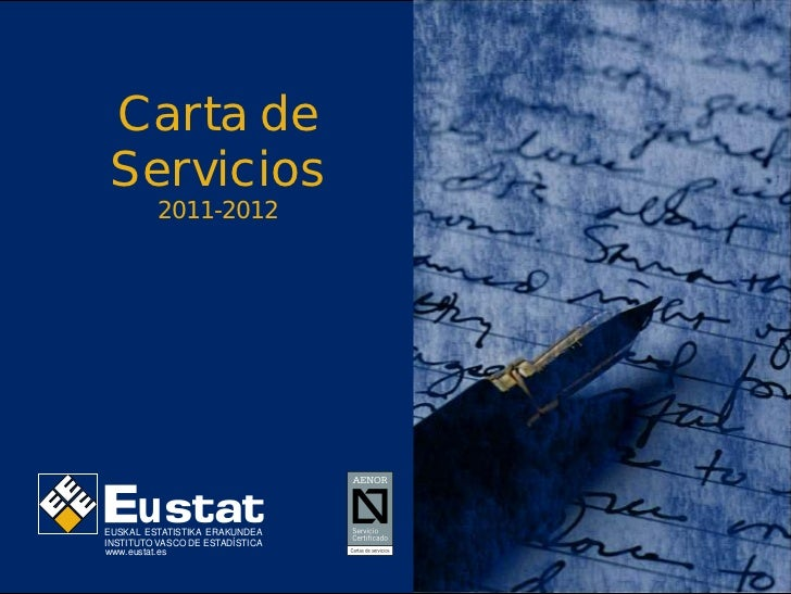 EUSTAT - Carta de Servicios 2011-2012