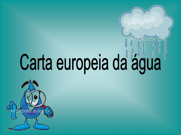 Carta europeia da água<br />