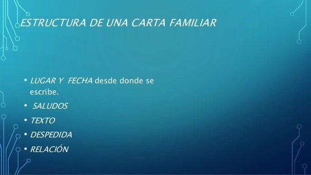Carta Familiar Estructura Y Caracteristicas Best Quotes U