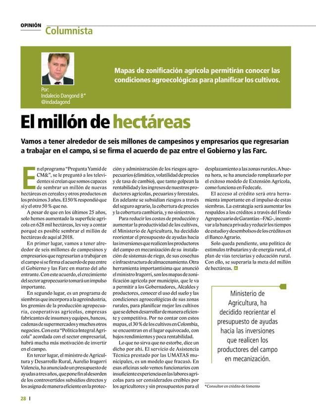 Salud animal Desarrollo Ganadero 30 E n el desarrollo del primer ciclo de vacunación contra la fiebre aftosa en 2015, se p...