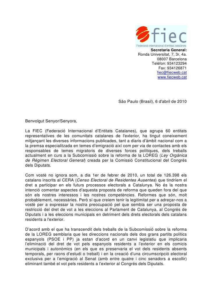Secretaria General:                                                             Ronda Universitat, 7, 3r, 4a.             ...
