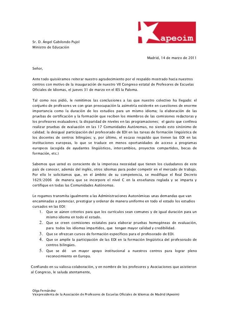 Sr. D. Ángel Gabilondo PujolMinistro de Educación                                                                         ...