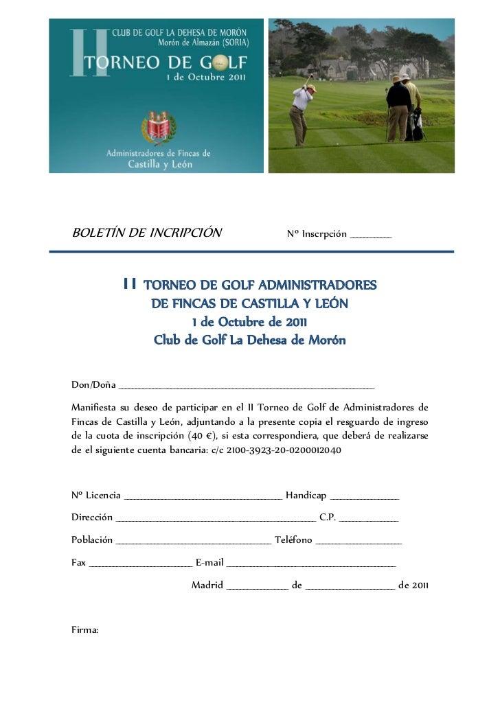 Torneo de golf administradores de fincas de castilla y le n for Administradores de fincas en leon