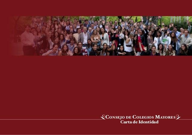 Carta de Identidad Consejo de Colegios Mayores