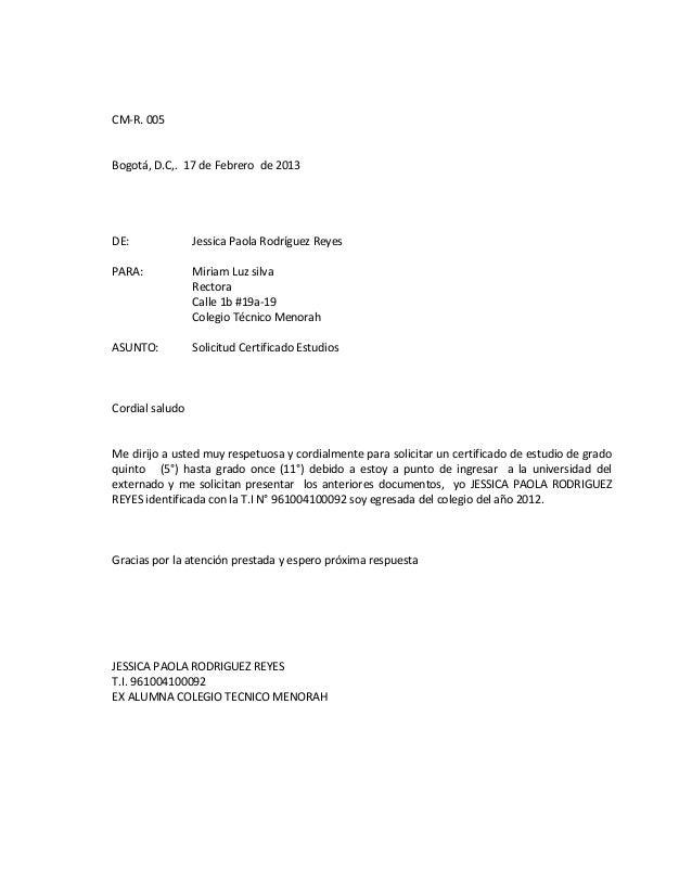 cartas de solicitud