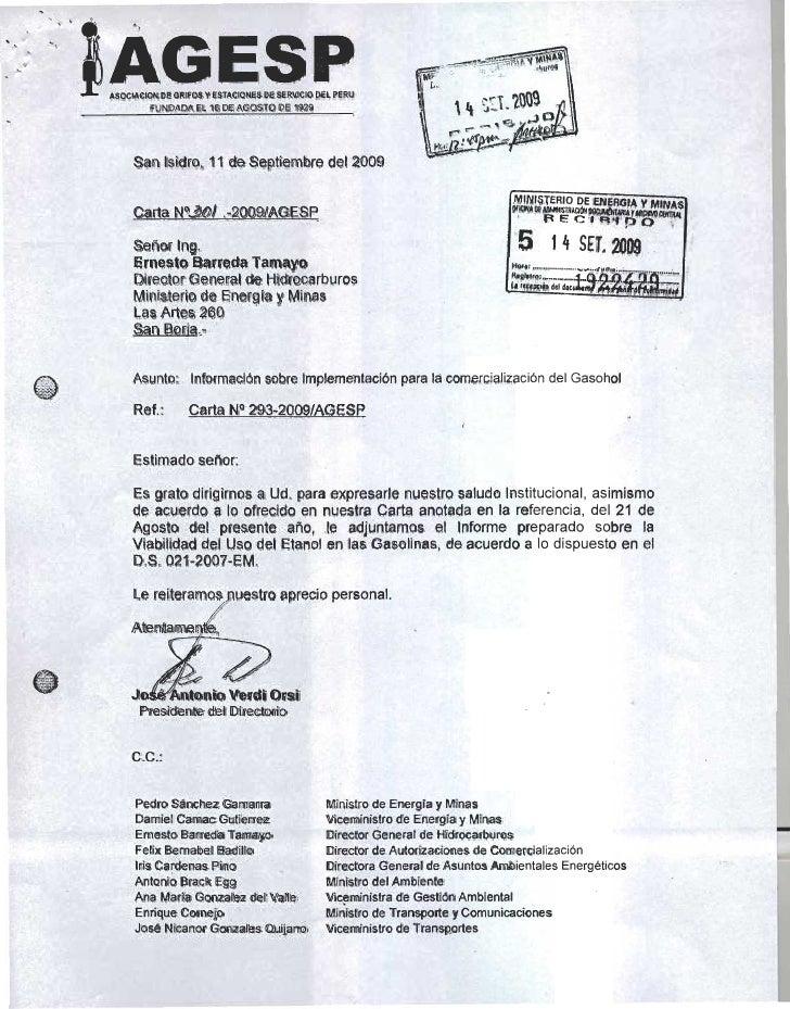 Carta Informe AGESP Biocombustibles