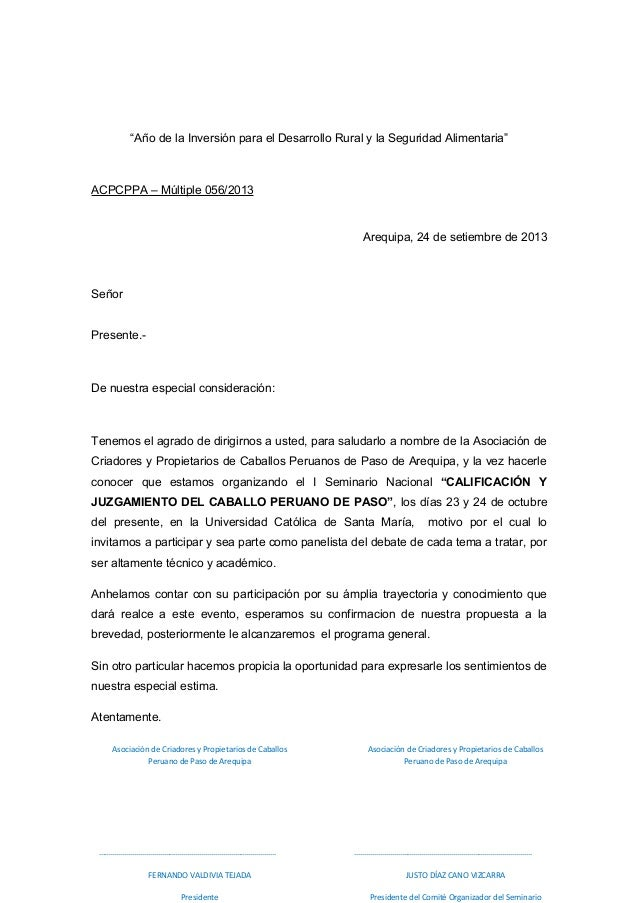 carta de permiso por motivos familiares