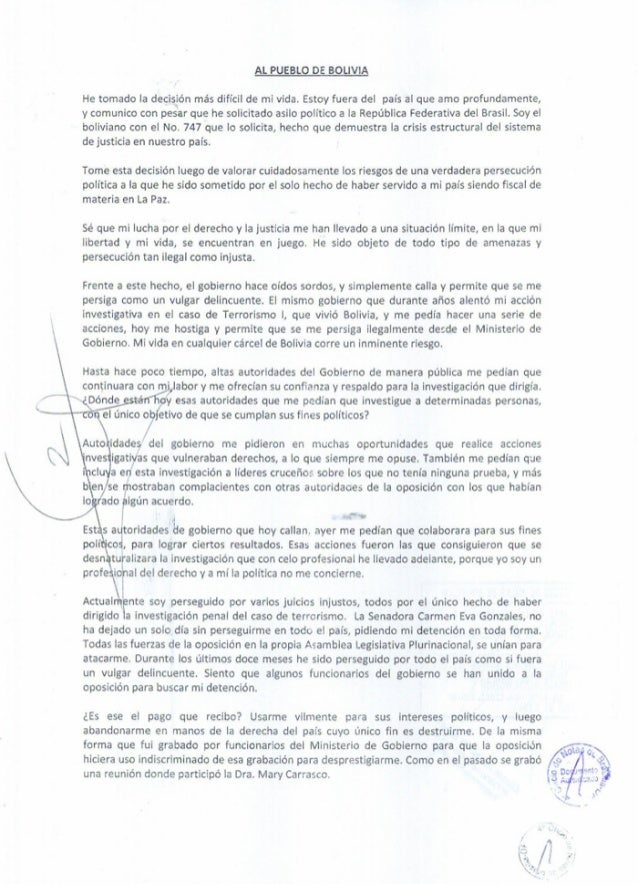 Carta marcelo soza