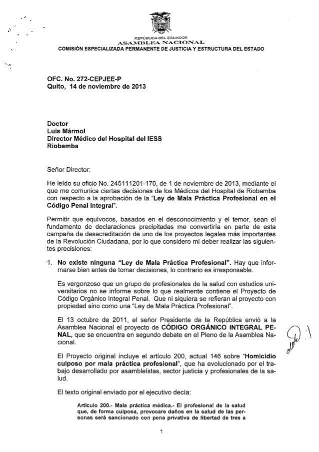 Carta médicos de chimborazo