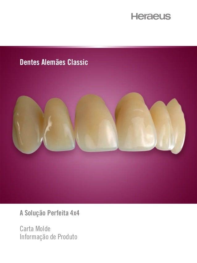 A Solução Perfeita 4x4 Carta Molde Informação de Produto Dentes Alemães Classic