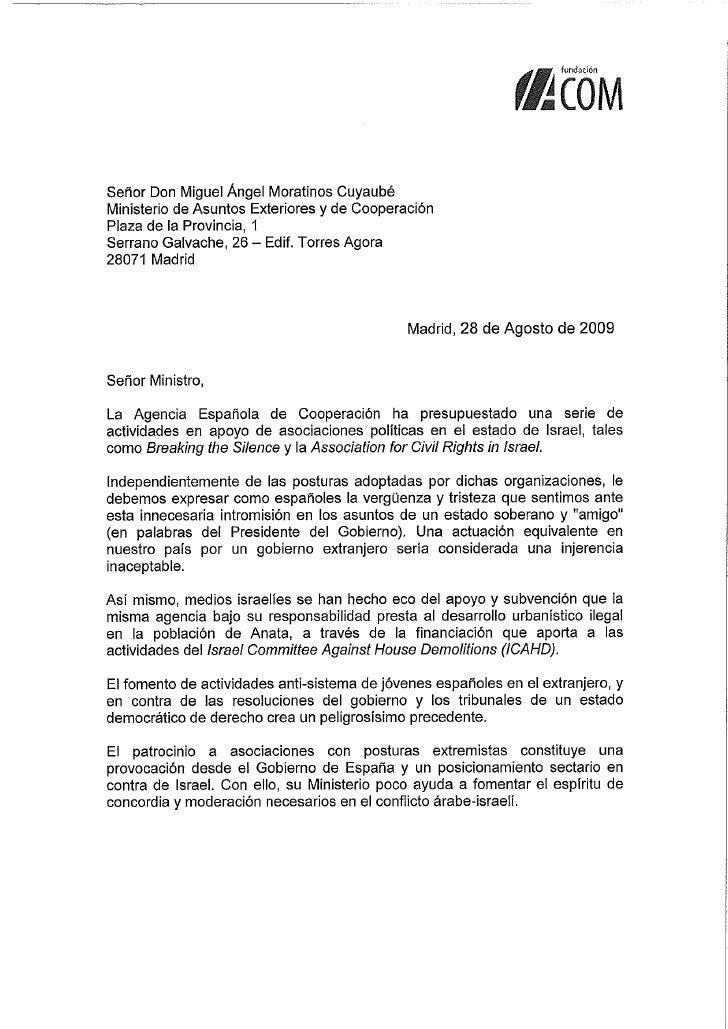 Carta Moratinos