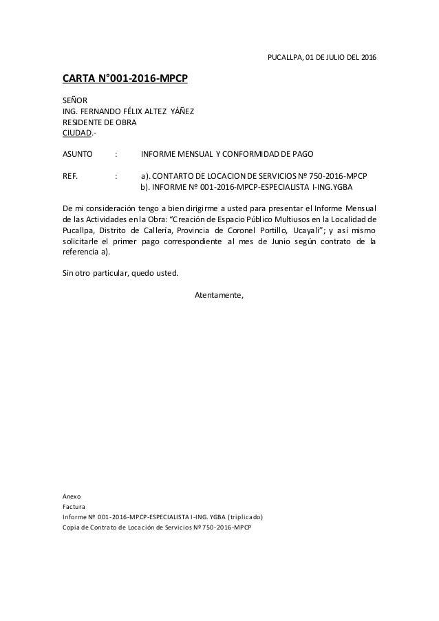 Ejemplo De Liquidacion De Empleada De Servicio Carta Mpcp