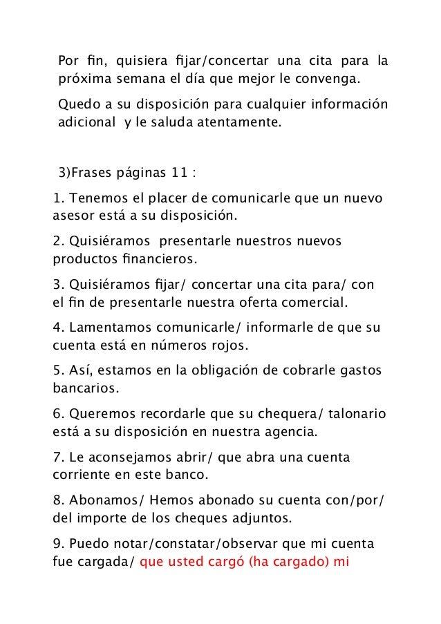 Carta p20 repuesta a la carte frases bancarias for Solicitud de chequera