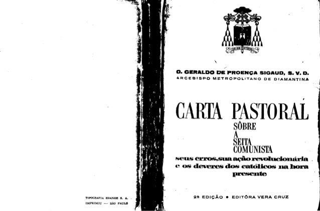 Carta+pastoral+seita+comunista+dom+sigaud