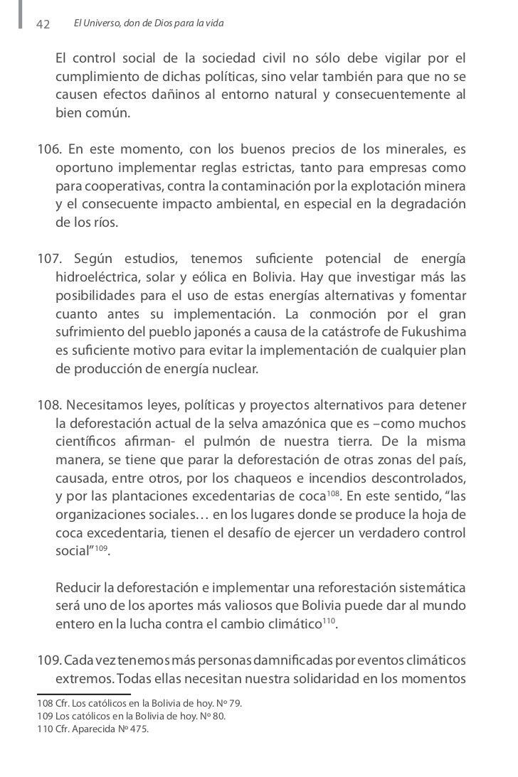 Carta Pastoral Sobre Medio Ambiente