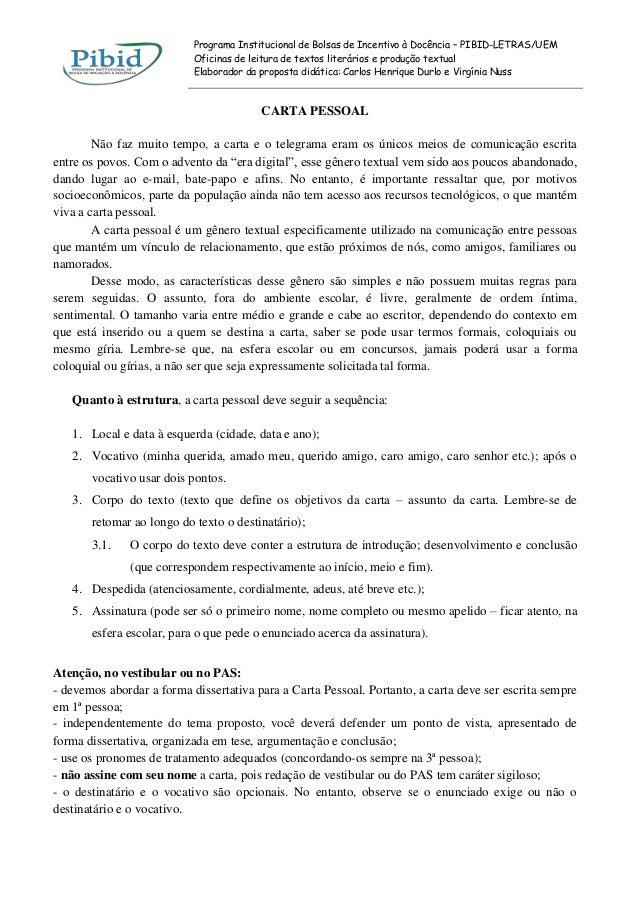 Programa Institucional de Bolsas de Incentivo à Docência – PIBID-LETRAS/UEM Oficinas de leitura de textos literários e pro...