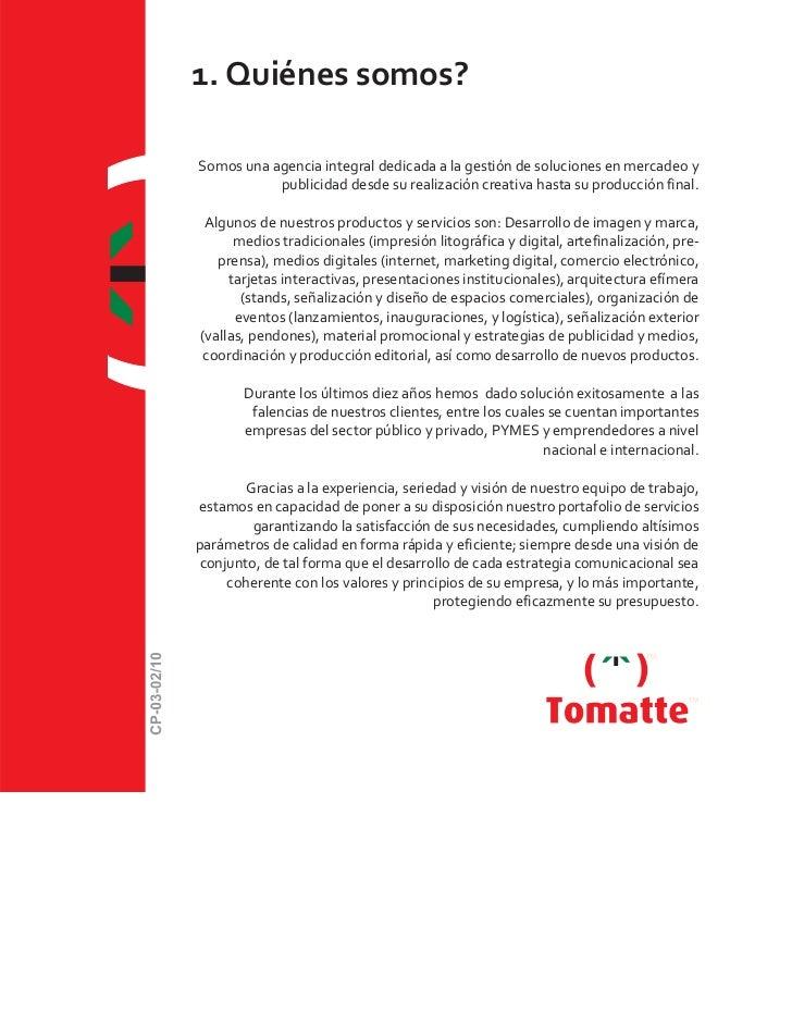 Carta presentación tomatte 2011