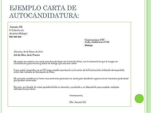Modelo Carta Presentacion Curriculum Espontanea Ejemplo De Carta De
