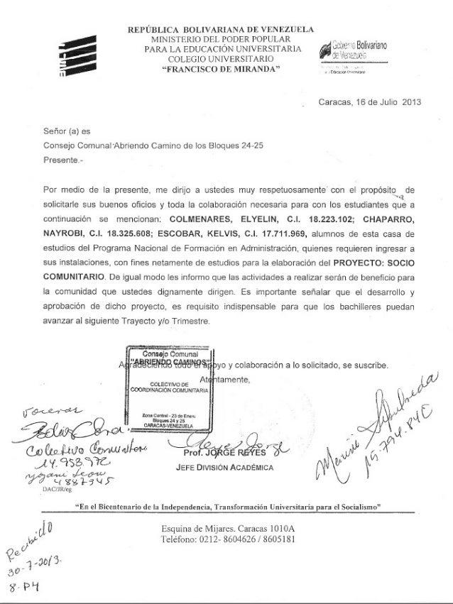 Carta proyecto 2