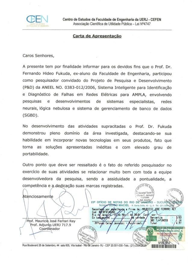 Carta De Apresentação Do Prof Maurício José Ferrari Rey