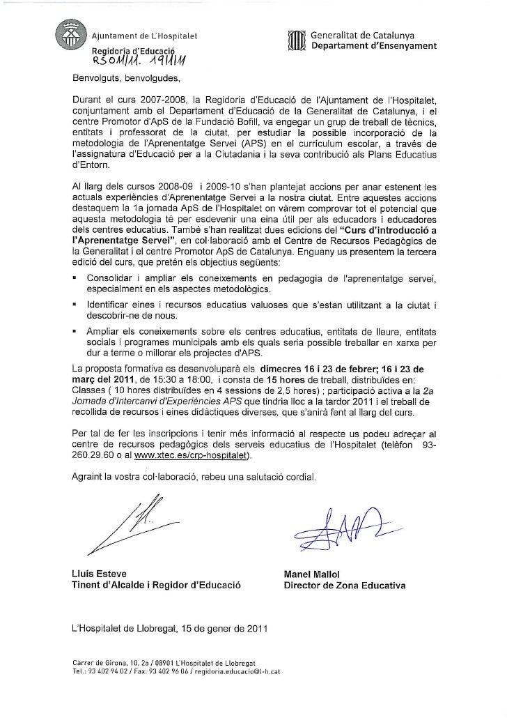 Carta registre curs aps 2011