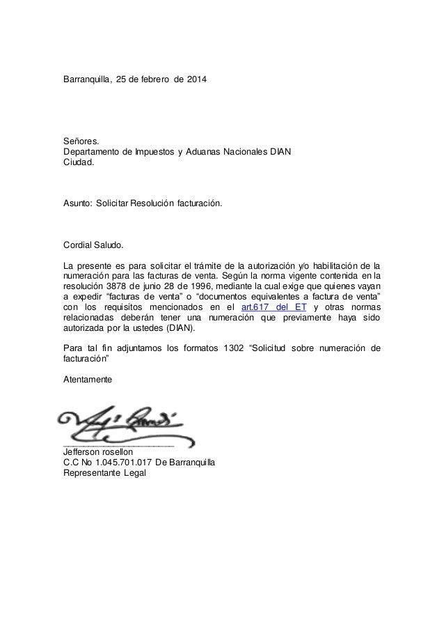 Carta resolucion facturacion for Formulario desistimiento