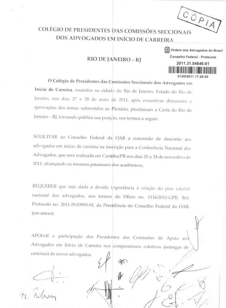 Carta Rio de Janeiro