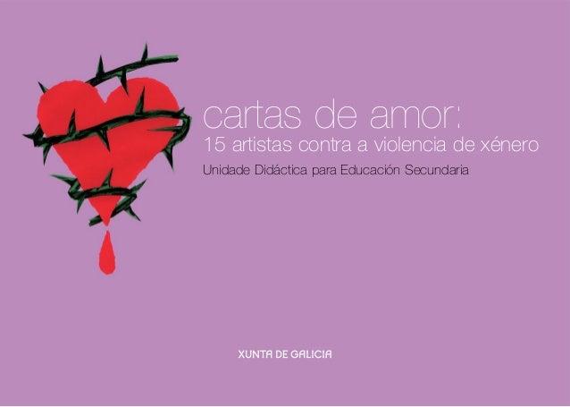 cartas de amor: 15 artistas contra a violencia de xénero Unidade Didáctica para Educación Secundaria