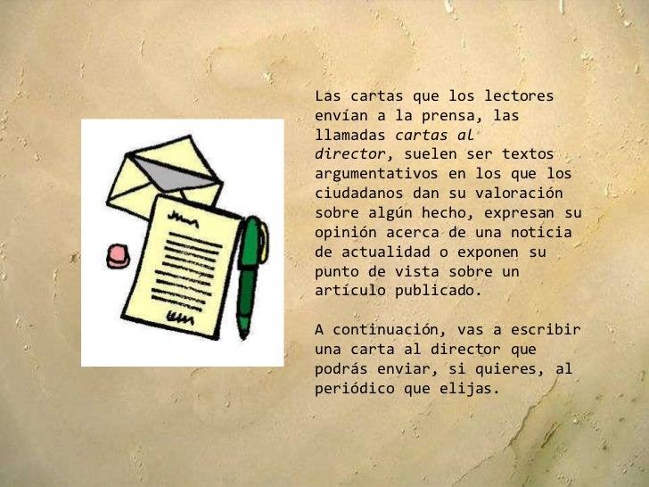 Cartas al director Slide 2