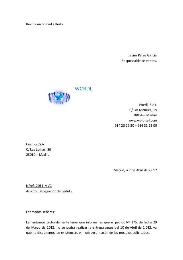 cartas de pedido