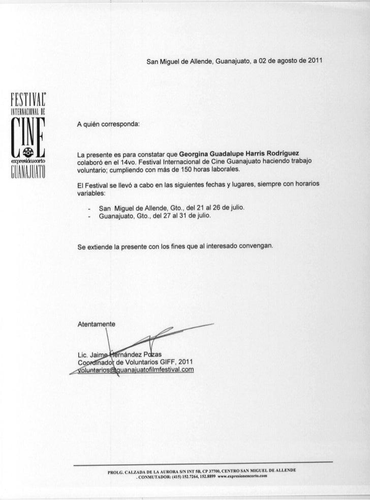 Cartas constancia voluntarios2011 2a for Modelo de contrato de trabajo de empleada domestica