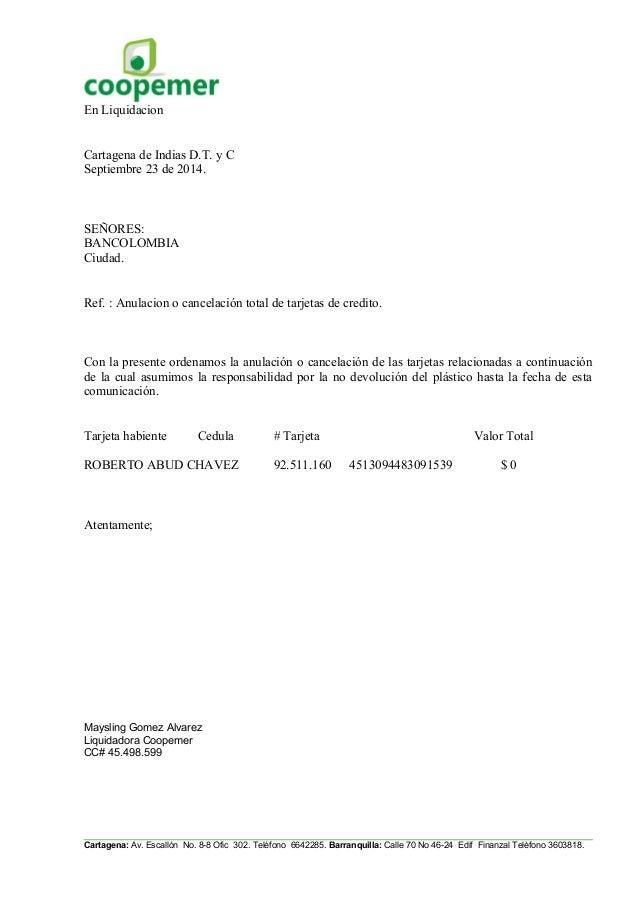 Cartas Coopemer 2014