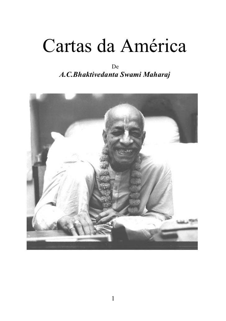 Cartas da América               De A.C.Bhaktivedanta Swami Maharaj               1