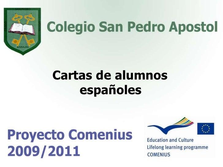 Cartas de alumnos<br />españoles<br />