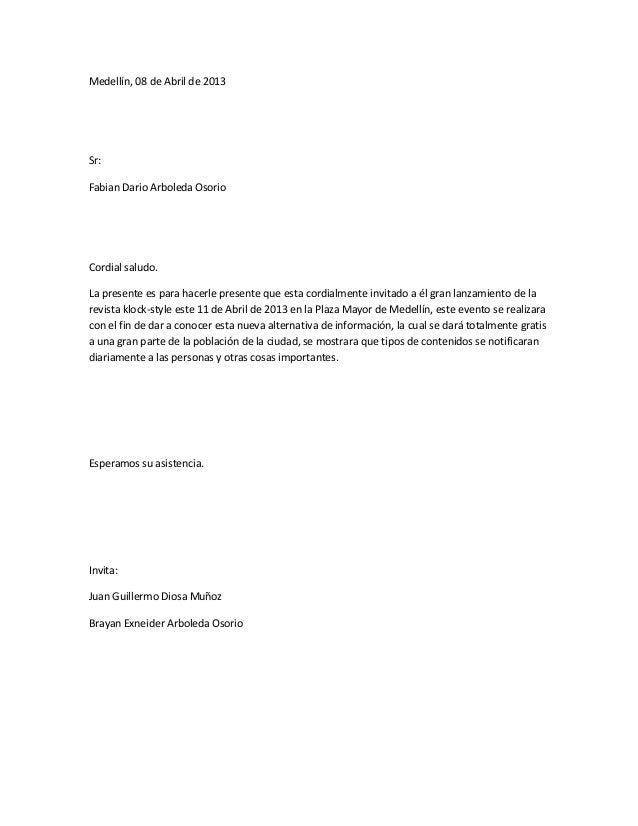 Medellín, 08 de Abril de 2013Sr:Fabian Dario Arboleda OsorioCordial saludo.La presente es para hacerle presente que esta c...