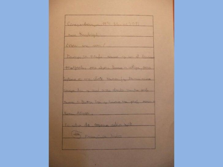Cartas a la seño Kayleigh
