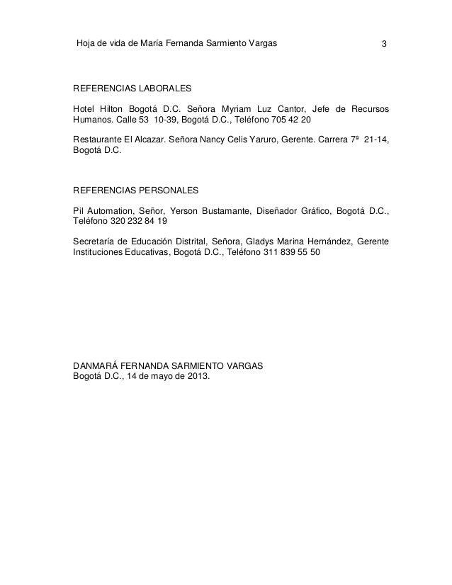CARTAS DE PRESENTACIÓN Y HOJAS DE VIDA