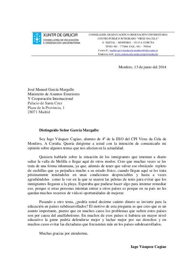 """CONSELLERÍA DE EDUCACIÓN E ORDENACIÓN UNIVERSITARIA CENTRO PÚBLICO INTEGRADO """"VIRXE DA CELA"""" O XESTAL – MONFERO – 15315 A ..."""