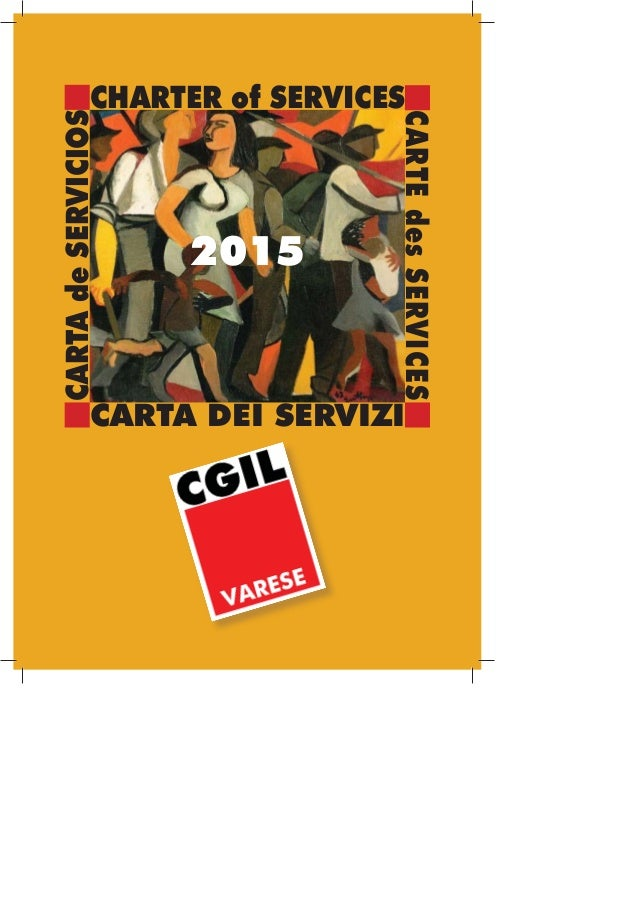CHARTER of SERVICES CARTA DEI SERVIZI CARTEdesSERVICES CARTAdeSERVICIOS 2015