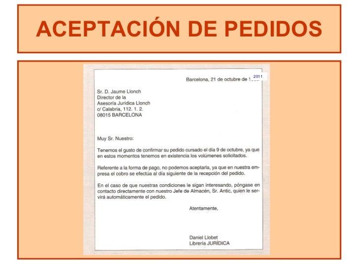aceptacin de pedidos 2011