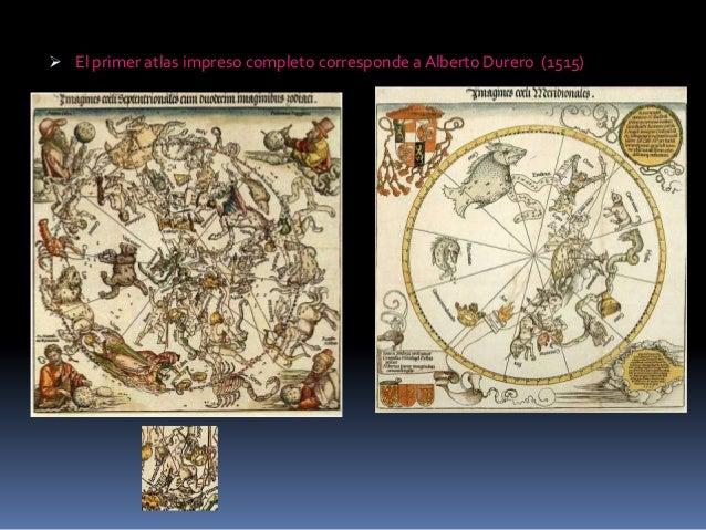  El primer atlas impreso completo corresponde a Alberto Durero (1515)