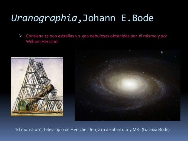 Uranographia,Johann E.Bode   Contiene 17.000 estrellas y 2.500 nebulosas obtenidas por él mismo y por    William Herschel...