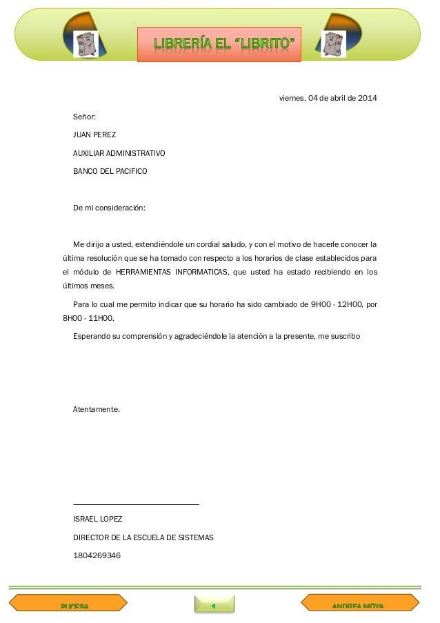 cartas formales